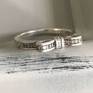 Sterling Silver and CZ Bow Ring
